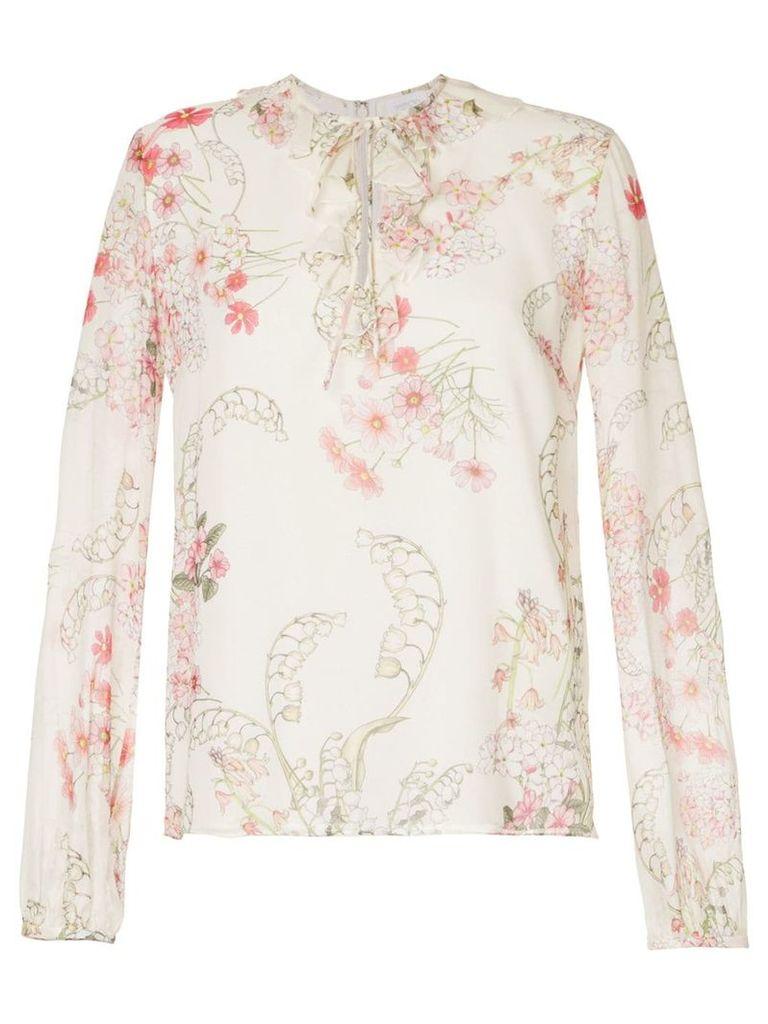 Giambattista Valli floral print blouse - White