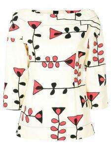 Marni floral print blouse - Neutrals
