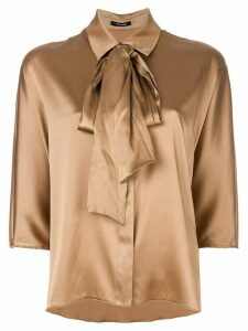 Styland tie-neck blouse - Metallic