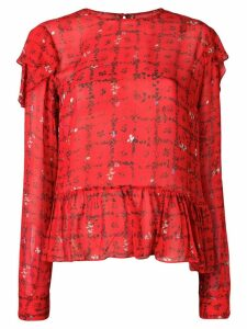 Preen Line Bryoni floral vine top - Red