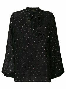 Saint Laurent polka dot blouse - Black