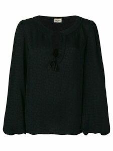 Saint Laurent tassel gypsy blouse - Black