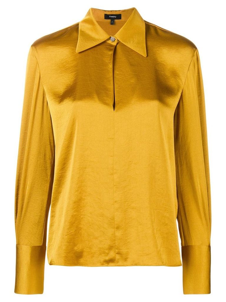 Theory wide collar blouse - Yellow