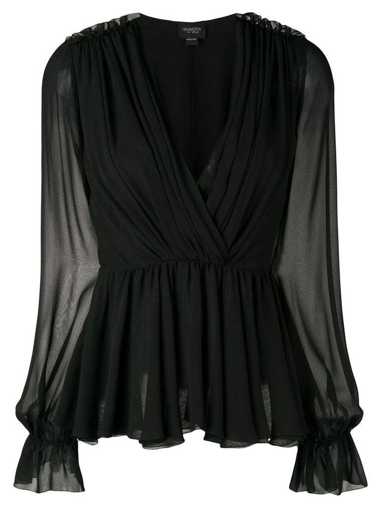 Giambattista Valli wrap front blouse - Black