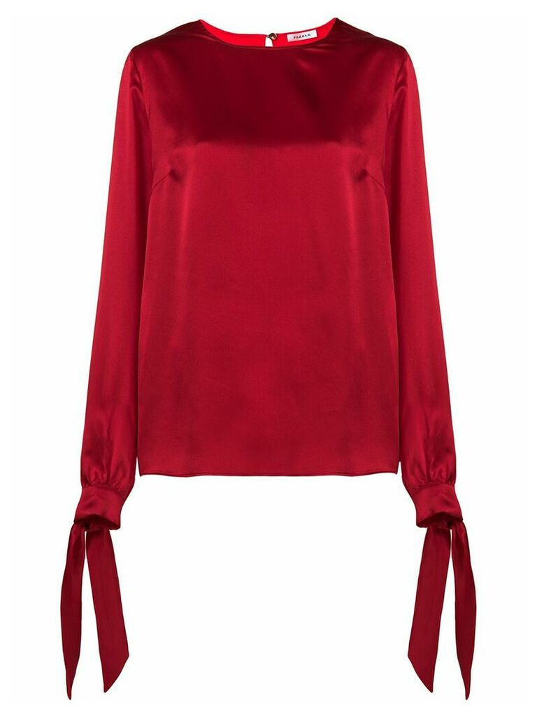 P.A.R.O.S.H. tie sleeves blouse - Red