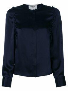 Thom Browne Bridal Button Silk Blouse - Blue