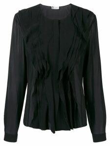 Lanvin ruffle-trim blouse - Black