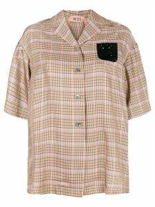 Nº21 short sleeved blouse - Brown