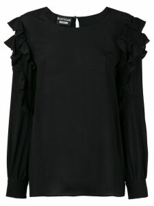 Boutique Moschino ruffled blouse - Black
