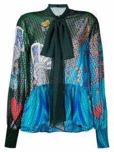 Mary Katrantzou Surreal pussy bow blouse - Multicolour