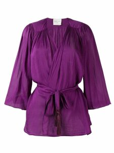 Forte Forte wrap blouse - PINK