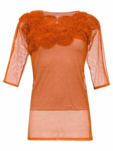 Gloria Coelho embellished blouse - Yellow