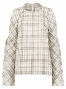 Framed Played blouse - Neutrals