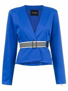 Tufi Duek v-neck top - Blue