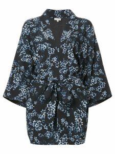 Fleur Du Mal floral print kimono - Blue