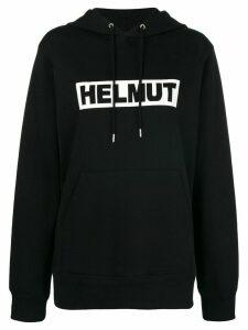 Helmut Lang box logo hoodie - Black