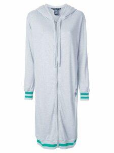 Thomas Wylde zipped long hoodie - Grey