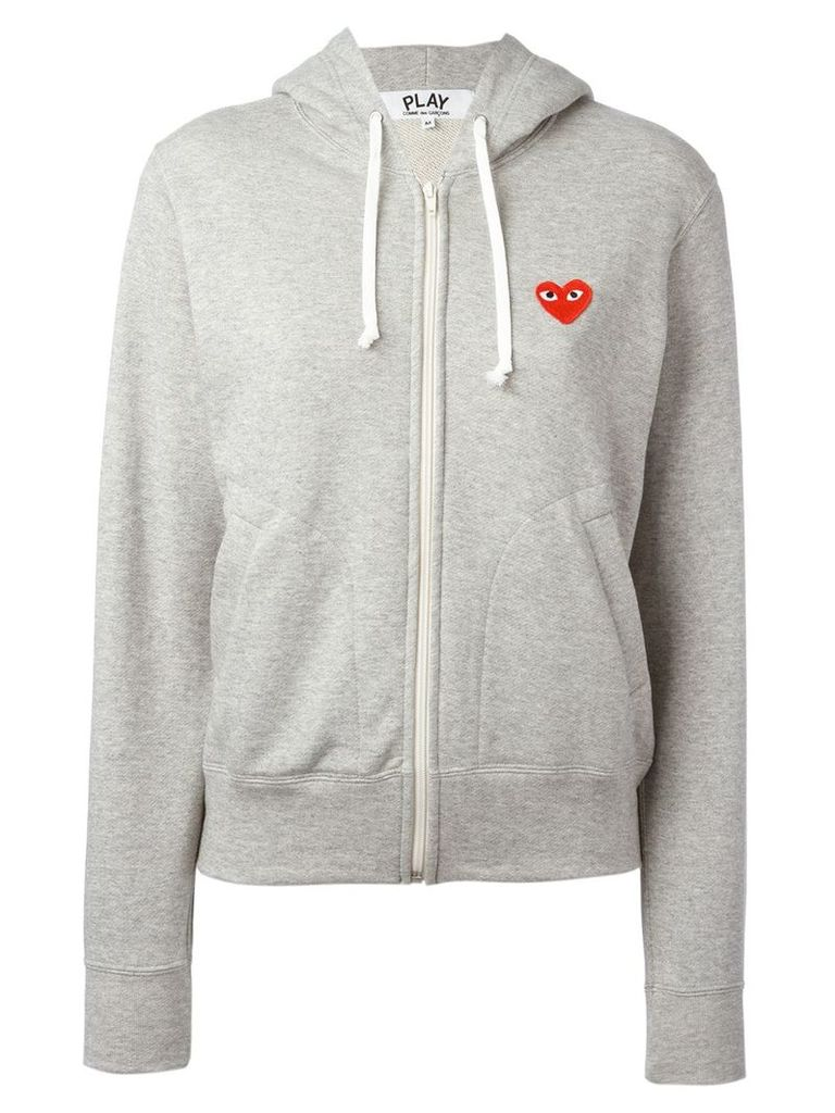 Comme Des Garçons Play embroidered logo hoodie - Grey