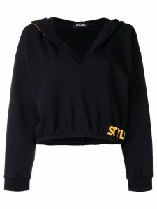 Styland oversized hood cropped sweater - Black