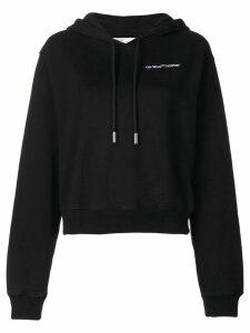 Off-White logo print hoodie - Black