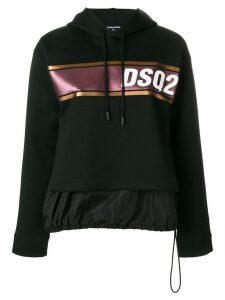 Dsquared2 DSQ2 logo stripe hoodie - Black