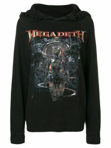 R13 megadeath print hoodie - Black