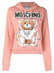 Moschino safety pin Teddy Bear hoodie - Pink