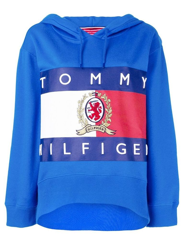 Hilfiger Collection printed oversized hoodie - Blue