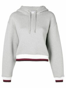 T By Alexander Wang contrast band hoodie - Grey