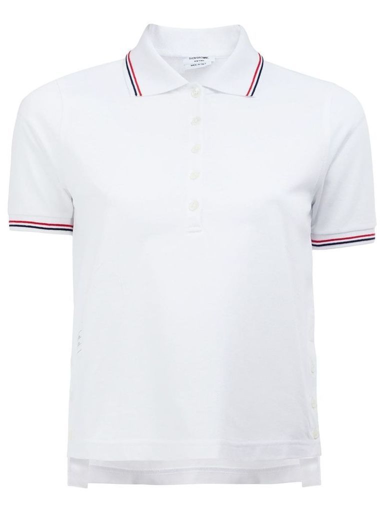 Thom Browne mercerized pique polo shirt - White