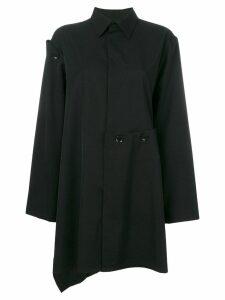 Yohji Yamamoto asymmetric high low shirt - 1 Black