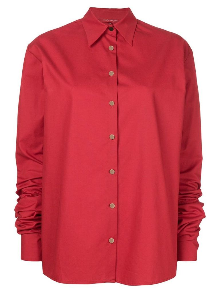 Rouge Margaux extra long sleeve shirt - Red