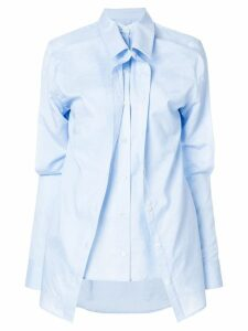Y/Project asymmetric layered shirt - Blue