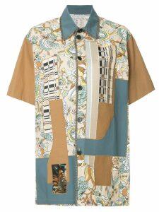 Antonio Marras patchwork short sleeve shirt - Brown