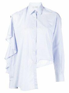 Each X Other ruffled striped shirt - Blue