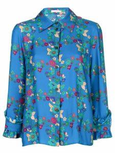 Kristina Ti floral print shirt - Blue