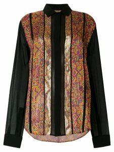 Saint Laurent contrast embroidered shirt - Multicolour