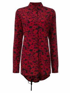 Saint Laurent poppy print shirt - Red
