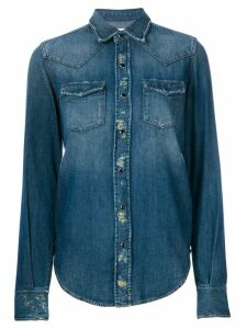 Saint Laurent distressed denim shirt - Blue
