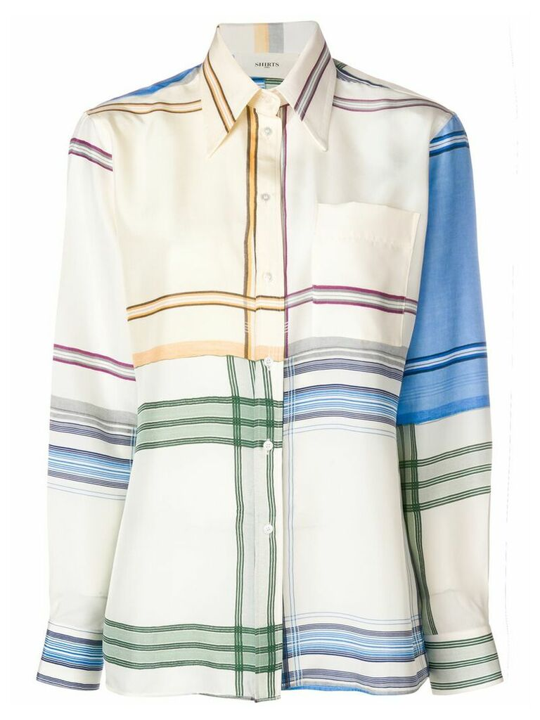 Ports 1961 checked longsleeved shirt - White