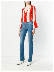 Alice+Olivia striped fitted shirt - Red