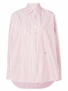 Victoria Beckham striped masculine shirt - White