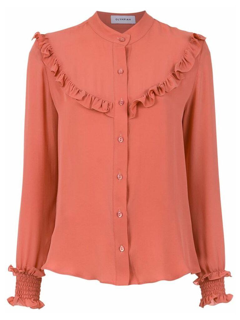 Olympiah ruffle details silk blouse - Pink