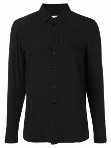 Saint Laurent Paris collar pineapple shirt - Black
