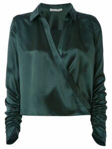 Martha Medeiros wrap Andrea shirt - Green
