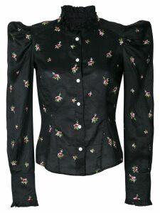 Isabel Marant floral embroidered shirt - Black