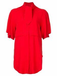 Antonio Berardi tie neck shirt - Red