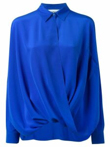 Moschino draped shirt - Blue
