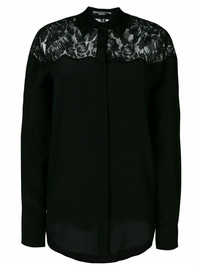 Stella McCartney lace inset shirt - Black