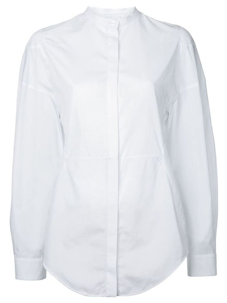 Courrèges collarless shirt - White